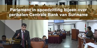 Parlement in spoedzitting bijeen over perikelen Centrale Bank van Suriname